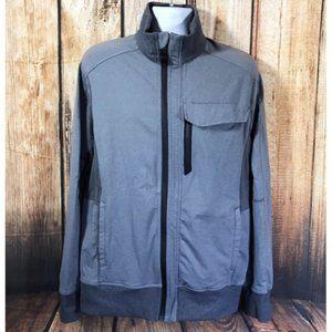 Lulu Kung Fu Jacket I Heathered Slate Grey Zip-Up